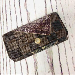Louis Vuitton Damier Ebene Trunk Labels 4 Key Case